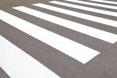 斑马交通步行方式 免版税库存照片