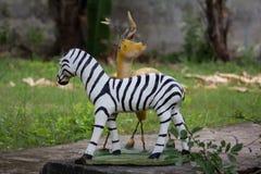 斑马和鹿 图库摄影