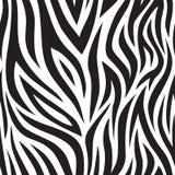 斑马无缝的样式 黑白老虎条纹 普遍的纹理 皇族释放例证