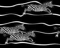 斑马无缝的样式 库存照片