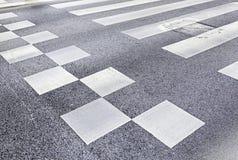 斑马线在城市 免版税库存照片