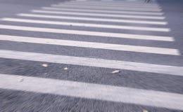斑马线的白色条纹 免版税库存图片
