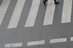 斑马线街道 免版税图库摄影