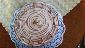 斑马蛋糕 免版税库存图片