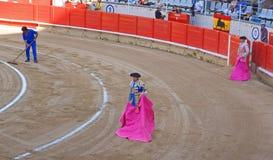 斗牛场的斗牛士,巴塞罗那,西班牙 免版税图库摄影