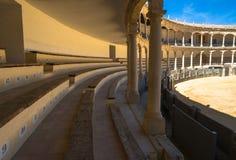 斗牛场竞技场在朗达,安大路西亚,西班牙 图库摄影