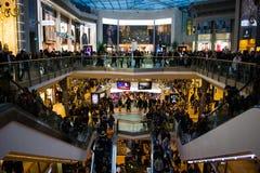 斗牛场购物中心,伯明翰市中心,英国, 免版税库存照片