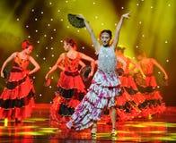 斗牛士舞蹈---西班牙全国舞蹈 图库摄影