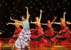 斗牛士舞蹈---西班牙全国舞蹈 库存图片