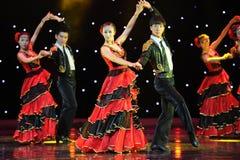斗牛士舞蹈---西班牙全国舞蹈 库存照片