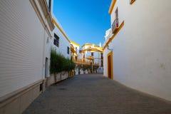 斗牛竞技场, plaza de toros在塞维利亚,西班牙 库存照片