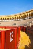 斗牛竞技场, plaza de toros在塞维利亚,西班牙 库存图片
