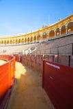 斗牛竞技场, plaza de toros在塞维利亚,西班牙 图库摄影