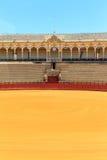 斗牛竞技场, plaza de toros在塞维利亚, La Maestranza 免版税库存照片