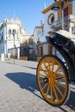 斗牛竞技场, plaza de toros在塞维利亚 免版税库存照片