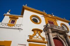 斗牛竞技场, plaza de toros在塞维利亚 库存照片