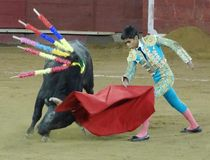 斗牛,基多,厄瓜多尔 免版税图库摄影