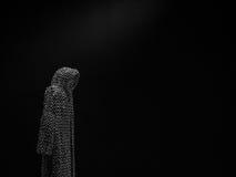 斗篷在暗室 免版税图库摄影