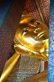 斜倚在wat pho的菩萨在泰国 免版税图库摄影