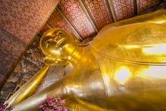 斜倚的菩萨的寺庙 图库摄影