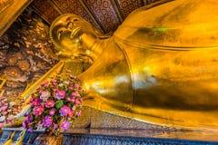 斜倚的菩萨Wat Pho寺庙曼谷泰国 免版税库存图片