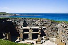 斜坡居住的新石器时代的skara 库存图片
