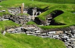斜坡居住的新石器时代的skara 免版税图库摄影