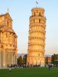 斜塔在比萨,意大利 库存照片