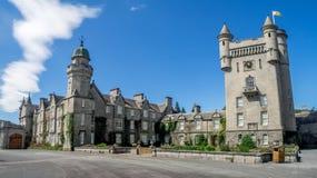 斜纹呢衬城堡苏格兰 库存图片