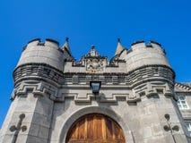 斜纹呢衬城堡苏格兰 库存照片