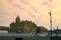 斜纹呢衬爱丁堡 免版税库存图片