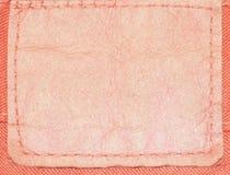 斜纹布标签皮革 免版税库存照片