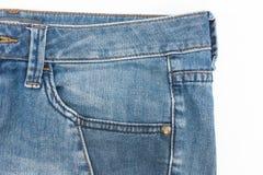 斜纹布的前面口袋 库存照片