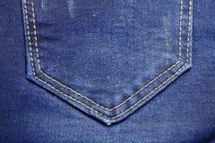 斜纹布的后面口袋 免版税库存图片