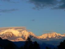 断层块du Mont-Blanc (法国) 免版税图库摄影