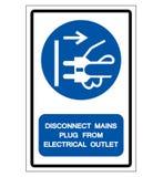 断开主要从电子出口标志标志,传染媒介例证塞住,隔绝在白色背景标签 EPS10 皇族释放例证