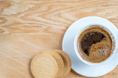 断裂的咖啡 免版税库存图片