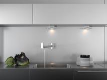 断送厨房现代自来水 免版税库存照片