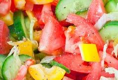 断送新鲜的沙拉端蔬菜 免版税库存照片