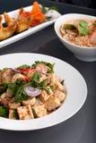 断送泰国食物的美食 免版税库存图片