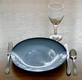断送餐位餐具 库存照片