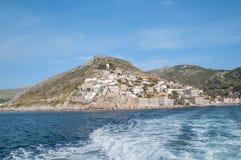 斯佩察岛海岛,希腊 库存图片