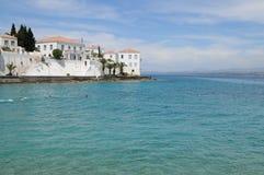 斯佩察岛海岛,希腊 免版税库存图片