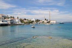 斯佩察岛海岛,希腊 免版税图库摄影