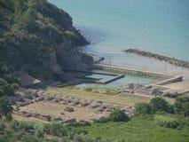 斯佩尔隆加-蒂贝里奥住所废墟 免版税库存照片