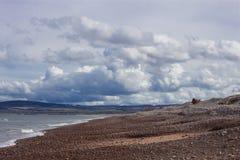 斯佩海湾海滩场面 库存照片