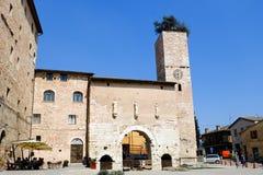 斯佩洛中世纪村庄在意大利 免版税库存图片