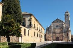 巴斯克斯de莫利纳Square,宇部,西班牙 免版税库存照片