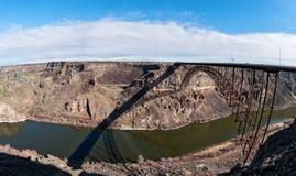 斯内克河峡谷,爱达荷全景 库存图片