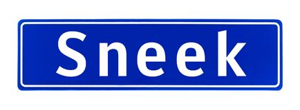 斯内克,荷兰的市区范围标志 库存照片